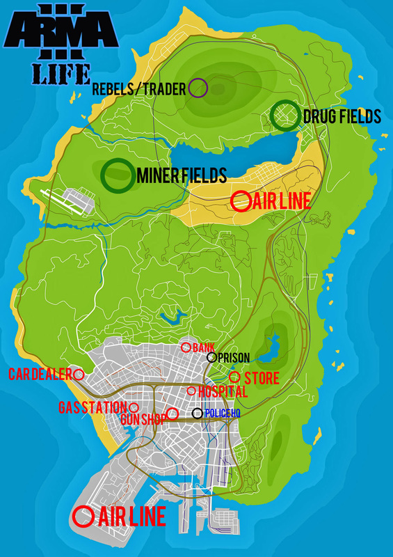 Map - Arma 3 life in gta5